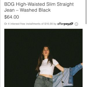 bdg high waisted slim straight jeans size 29